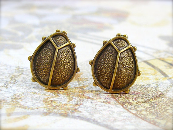 Fashion ladybird stud earrings Antique cute Silver Plated earrings Personality  stud earrings for women wholesale free shipping<br><br>Aliexpress