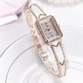 New Fashion 2016 Luxury Rhinestone Watches Women Stainless Steel Quartz Watch For Ladies Dress Watch Gold