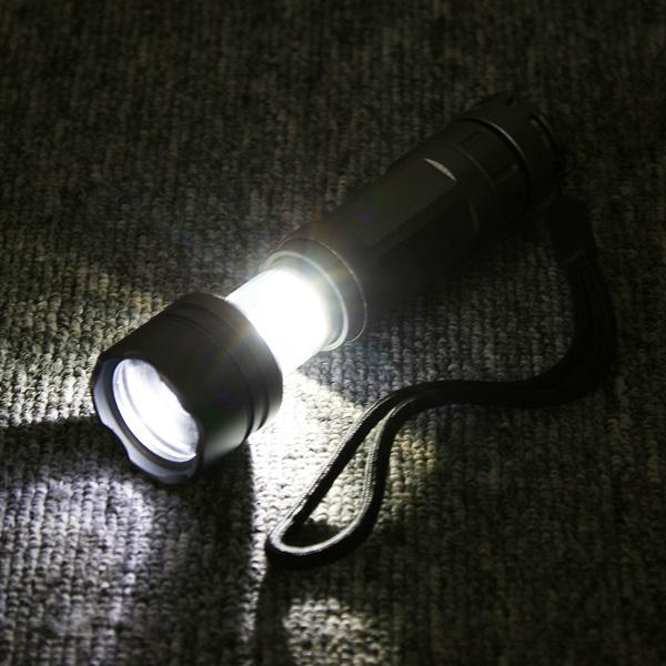 Waterproof CREE Q5 Led Camping Lantern Flashlight Torch Lamp 180 Lumens 3-Mode AA battery Silver Gray(China (Mainland))