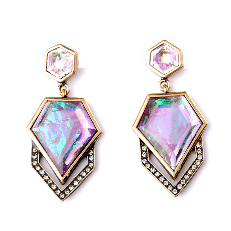 New Design Geometric Hanging Earrings Concise Style Fashion Jewelry Perfume Women Drop Earrings My Orders(China (Mainland))