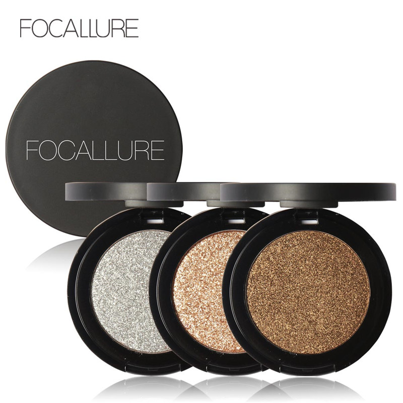 FOCALLURE 8 Colors Super Bright Pearl Shining Bright Glitter Powder Pink Diamond Eyeshadow Makeup(China (Mainland))