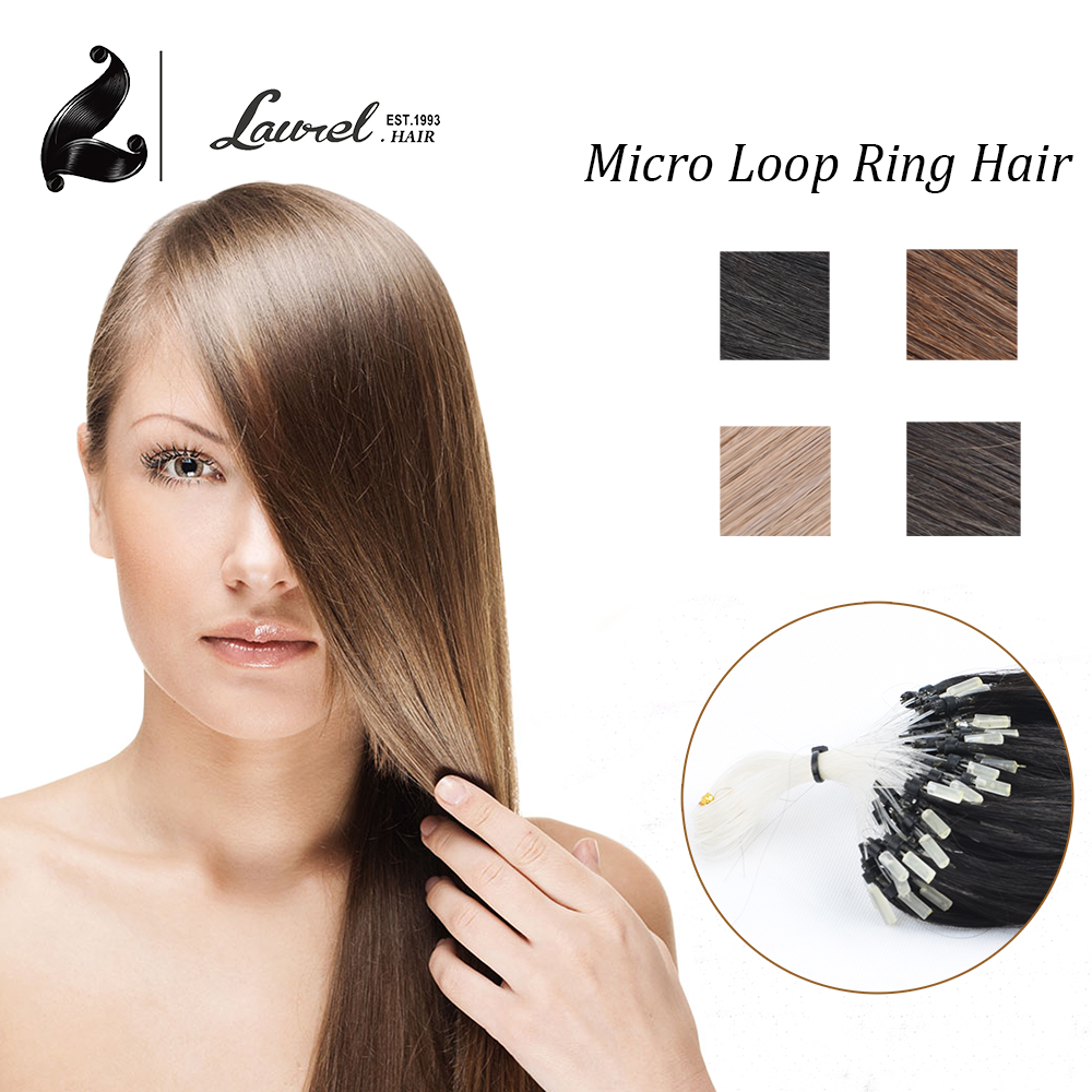 Micro Link Straight Remy Micro Loop Hair Extensions 0.5g/strand 50g 100strands 6 Colors Available #1 #6 #27 #613 Very Soft Hair(China (Mainland))