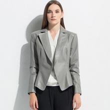 New 2015 women Leather coats designer quality jackets nature sheepskin slim jacket fashion black coat free shipping XE2029