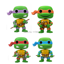 Hot Teenage Mutant Ninja Turtles TMNT Michelangelo Donatello Leonardo Raphael Funko POP # 60 61 62 63 Vinyl Figure Toys Box - Paradise Island store