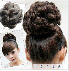 Hot sale Girls Lady Woman Hairpiece Hair wave Bun Wave Bun Extensions can choice<br><br>Aliexpress