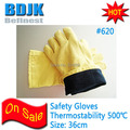 Kevlar 500 Degree High Temperature Safety Gloves Independent Foil Package