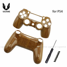 Custom wood grain case For Sony Playstation 4 PS4 Controller Hydro Dipped Woodgrain Shell Mod Kit for dualshock 4 controller