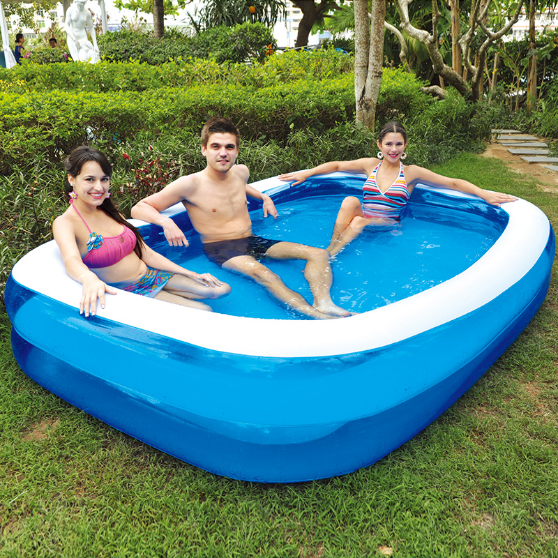 Jilong large inflatable swimming pool for family for Best rated inflatable swimming pool
