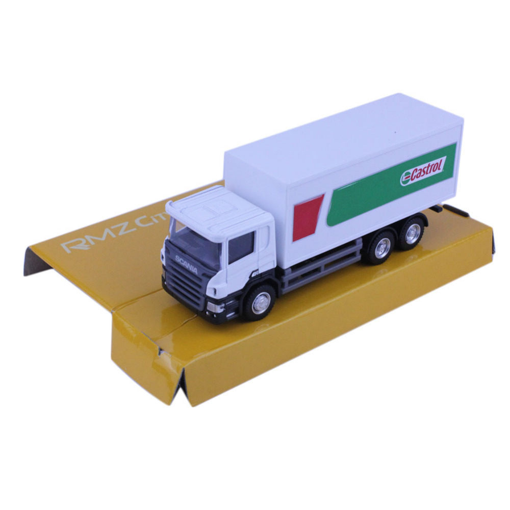 RMZ CITY 144002B 1/64 SCANIA Container Truck Castrol Diecasts Toy Vehicles Model Car(China (Mainland))
