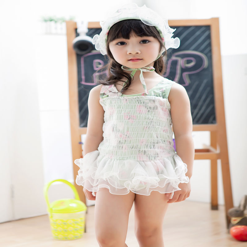 Wholesale  High Quality baby girl  swimsuit   Flower swimwear with cap for kid girl free shipping  5 pcs/lot   SW-12<br><br>Aliexpress