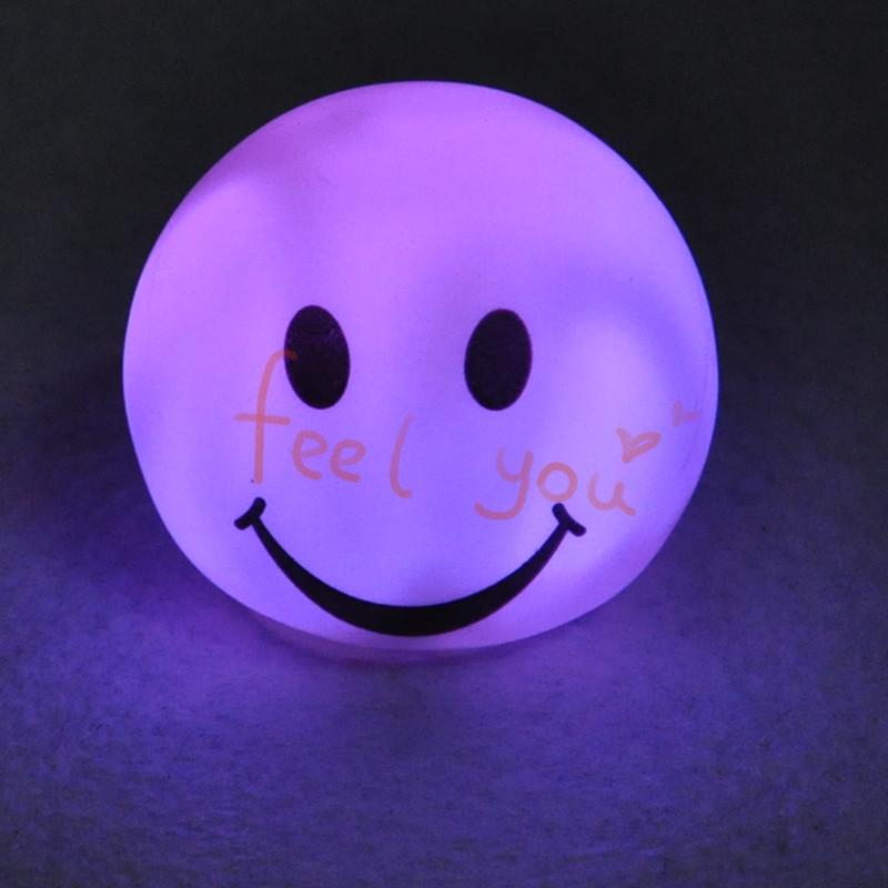 Smile Face Lovely Led Color Changing Night light Mood Room Home Decor Gift Novelty Led Lamp(China (Mainland))