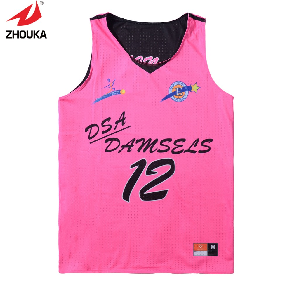 High Quality Reversible sleeveless custom men's basketball uniforms(China (Mainland))