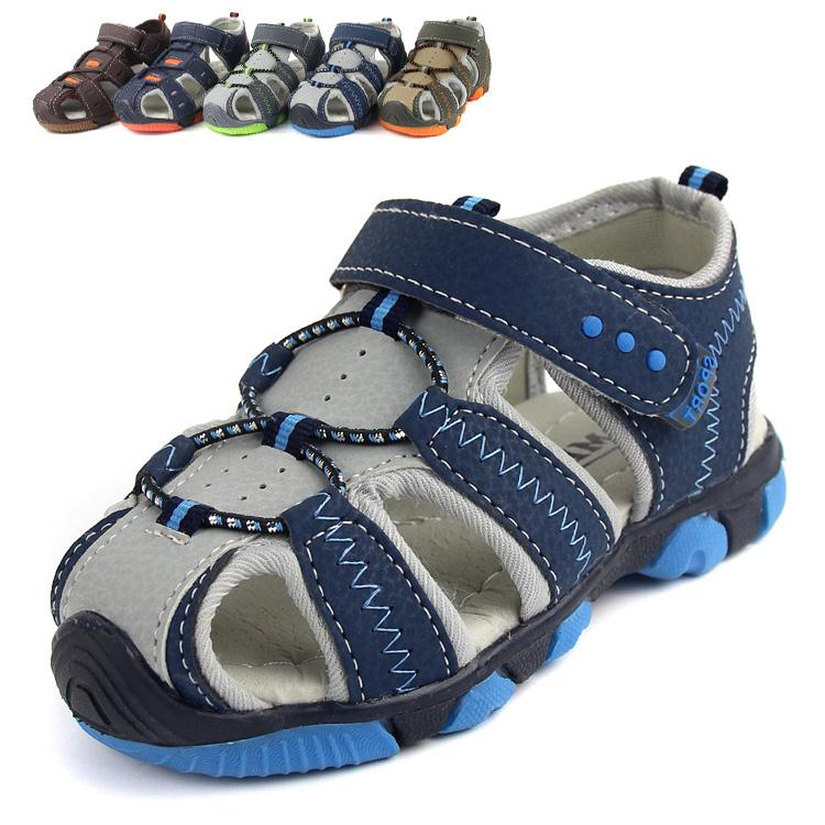 2015 New Boys Beach Sandals Antislip Soft Fashion Outdoor For Little Medium Big Children's Casual Shoes(China (Mainland))