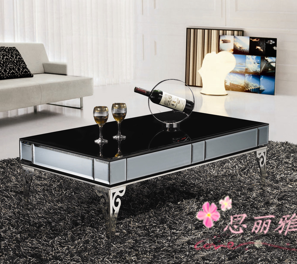 Metal coffee table coffee table for living room black for Glass living room table