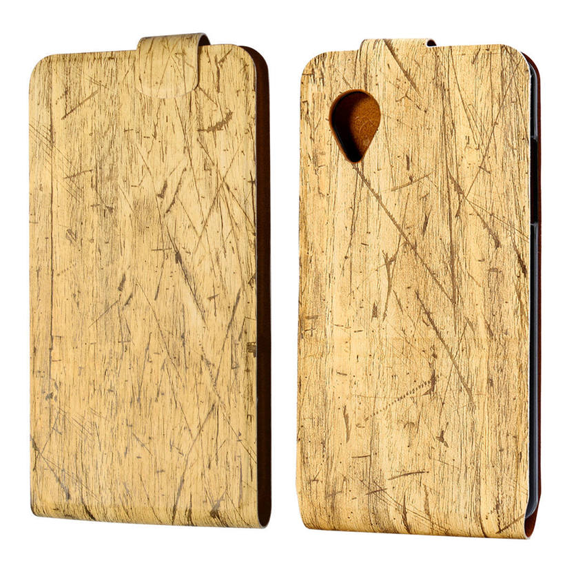 Wood Grain PU Leather Holster For LG Google Nexus 5 E980 D820 Phone Shell Up\Down\Left\Right Magnet Stand Flip Cell Phone Case(China (Mainland))