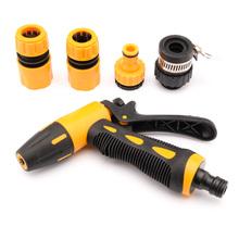 5pcs/Set Home Garden Multifunction Car Washing Water Gun Adjustable Gun Head High Pressure Washer Gun Cleaning YA385-SZ(China (Mainland))