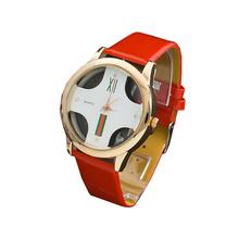 7 colores del reloj del cuarzo del estilo del verano relojes mujeres Hollow estilo caliente de la venta reloj de acero inoxidable Dial pareja Religio envío gratis