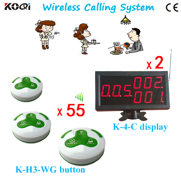 Electronic Pager System For Restaurant Cafe Accept Any Language any LOGO for Button Receiver Show 3-digit And 3 Groups Number(China (Mainland))