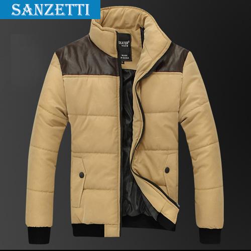 Delicate Design Man Thick Warm Coats Plus Size M 3XL Good Quality Leather Patchwork Men Winter