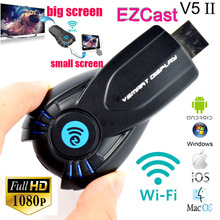 New Ezcast V5 ii wireless hdmi wifi display allshare cast dongle adapter miracast TV stick Receiver Support windows ios andriod