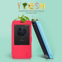 High Quality Nillikin Fresh Series Window PU Leather Case for Huawei Honor 4X+10pcs