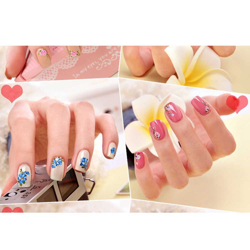 30 beautiful flower nail art designs
