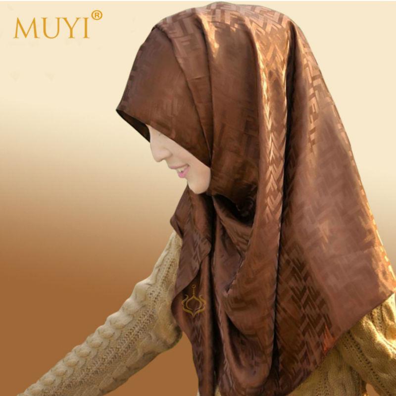 FREE SHIPPING new style headband islam fashion head scarf muslim women instant hijab long turban letter satin shawl silk wrap(China (Mainland))