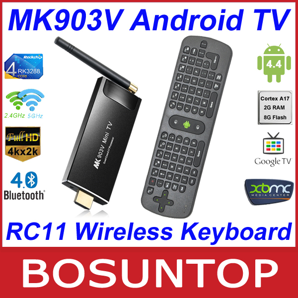 [Measy RC11 Wireless Keyboard] MK903V RK3288 Quad Core Cortex A17 Android4.4 Ultra 4K 2G/8G HDMI Bluetooth Android TV Box SticK(China (Mainland))