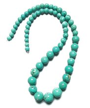 YA0361 Turquoise Dyed Beads for Necklace 6-14mm 18inch Free shipping(China (Mainland))