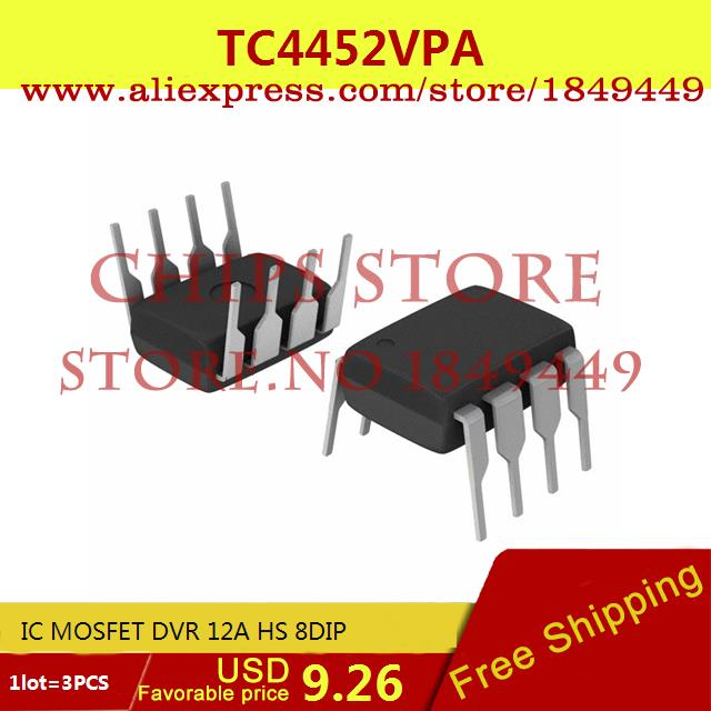 Smart Electronics Integrated Circuit TC4452VPA IC MOSFET DVR 12A HS 8DIP 4452 TC4452  -  Chips Store store