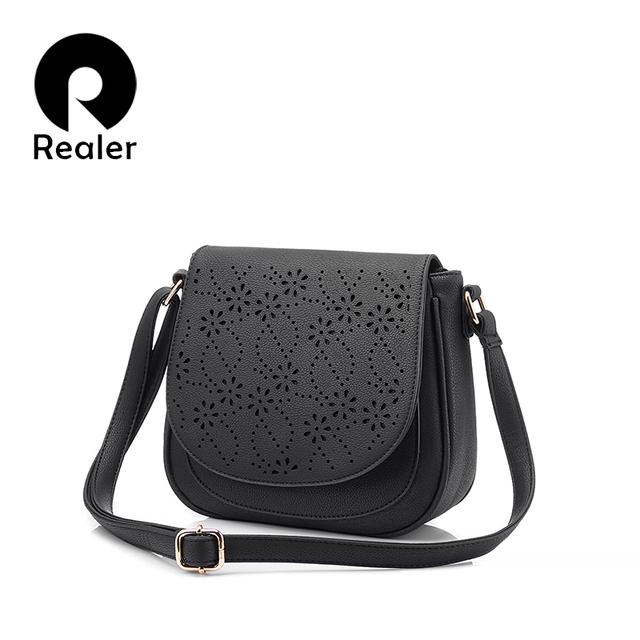 Realer Дизайнерская сумка бренда 2016 года,женская кроссбоди сумка,модная милая сумка из pu кожи с нахлестом