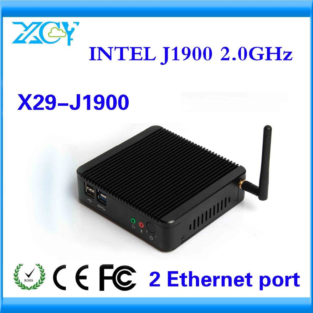 XCY NEW ARRIVAL TINY MARKET ADVERTISING MACHINE J1900 QUAD CORE 1*LAN THIN CLIENT 4G RAM AND 64G SSD FANLESS LOW HEAT(China (Mainland))