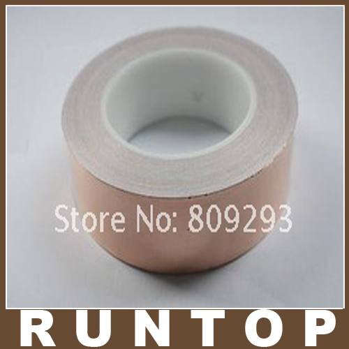 Фотография 100MM X 50M  Double-Sided Conductive Copper Foil EMI Shield  Band Tape Strap