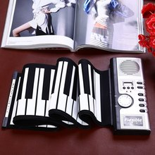 2016 Hot Sale Portable Flexible 61 Keys Silicone MIDI Digital Soft Keyboard Piano Flexible Electronic Roll Up Piano(China (Mainland))