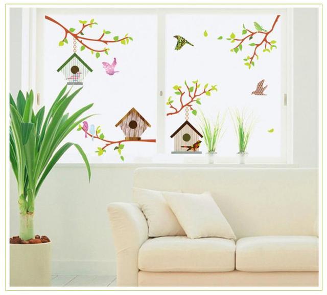 Маленькая bird птичье гнездо составной пвх стена сообщение 7096 спальня a сидя комната комикс дети комната не