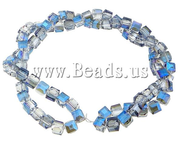 Free shipping!!!Cubic Crystal Beads,Tibetan Jewelry, Cube, half-plated, faceted, 12x12x12mm, Hole:Approx 1.5mm, Length:32 Inch<br><br>Aliexpress