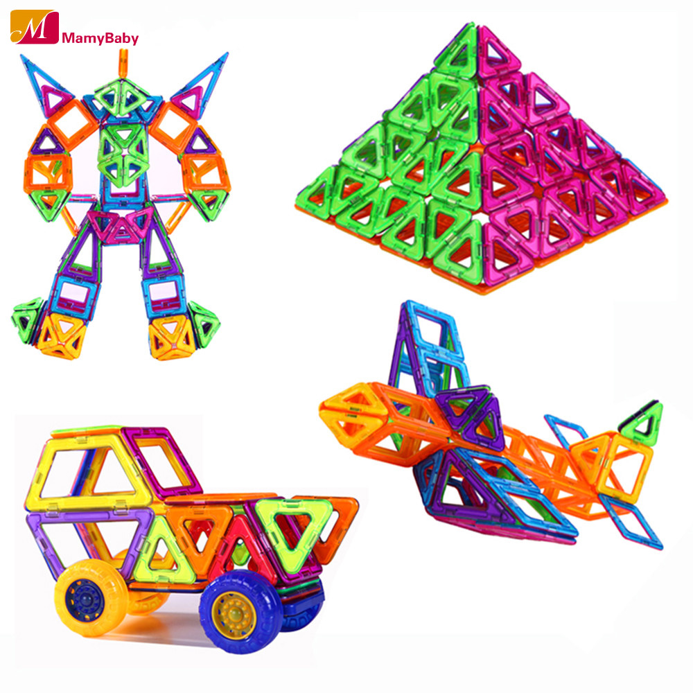 72pcs Wheels SetToy Bricks 3D MAGNETIC BUILDING TOYS Magnet Block Building Creative Plaything Best Gifts For Children(China (Mainland))