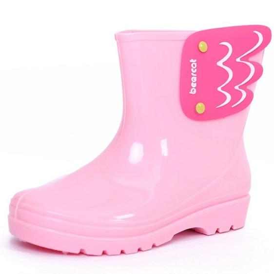 Children's candy color/angel wings/rain boots/boots/Pink/19 cm for 28-29 code//Chinese Brand/2016 new/(China (Mainland))