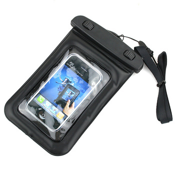 Waterproof cellphone smart mobile phone MP4 pouch bag case sleeve with a neck strap for phone MP3 MP4