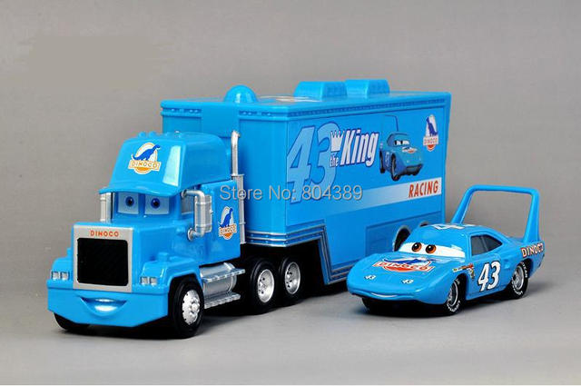 Best Gift! #43 the King Strip Weathers with Hauler Truck Set of 2 Toy Cars