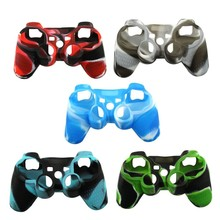 Super Cool Soft Silicone Gel Camo Camouflage Skin Cover Case for Sony PS3 Playstation 3 Controller Protection Skin Cover 5 Color
