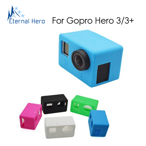 Silicone Case for the Camera Mainbody of GoPro Hero3+/3, Cover the one with LCD or without LCD(China (Mainland))