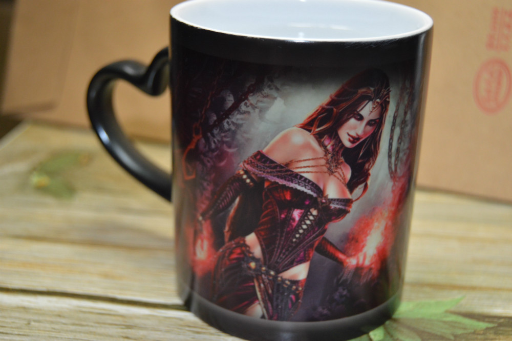 Free shipping custom heat color change cup mug magic the gathering mtg Lilina pictures can be choosen(China (Mainland))
