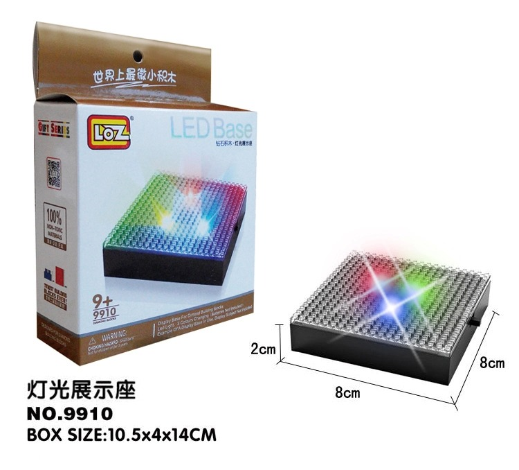LOZ LED Lightening Display Base Box For Diamond Building Blocks Architectures Landmark Goes With Mini Bricks Showing(China (Mainland))