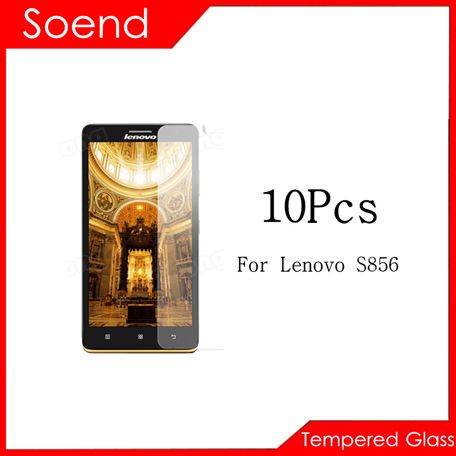 10Pcs/Lot Tempered Glass Screen Protector For Lenovo S856 Protection Cover Protective Guard Film 2