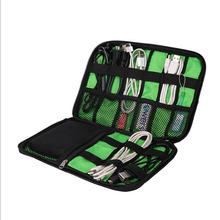 Organizer System Kit Case Storage Bag Digital Gadget Devices USB Cable Earphone Pen Travel Insert Portable organizador HO872226(China (Mainland))