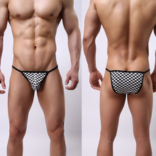 Sexy Mens Lingerie G-string Male Plaid Underwear Jockstrap T-Back Briefs Bulge Pouch Thong Shorts Underpants Intimate Pants New