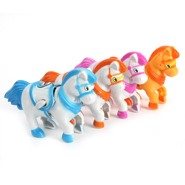 New Arrival Fun Cute Plastic Movement Horse Safety Wind-Up Baby Toddler Educational Toys New(China (Mainland))