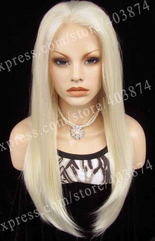 Discount Nicole Richie Heat resistant long straight synthetic lace front wig(China (Mainland))
