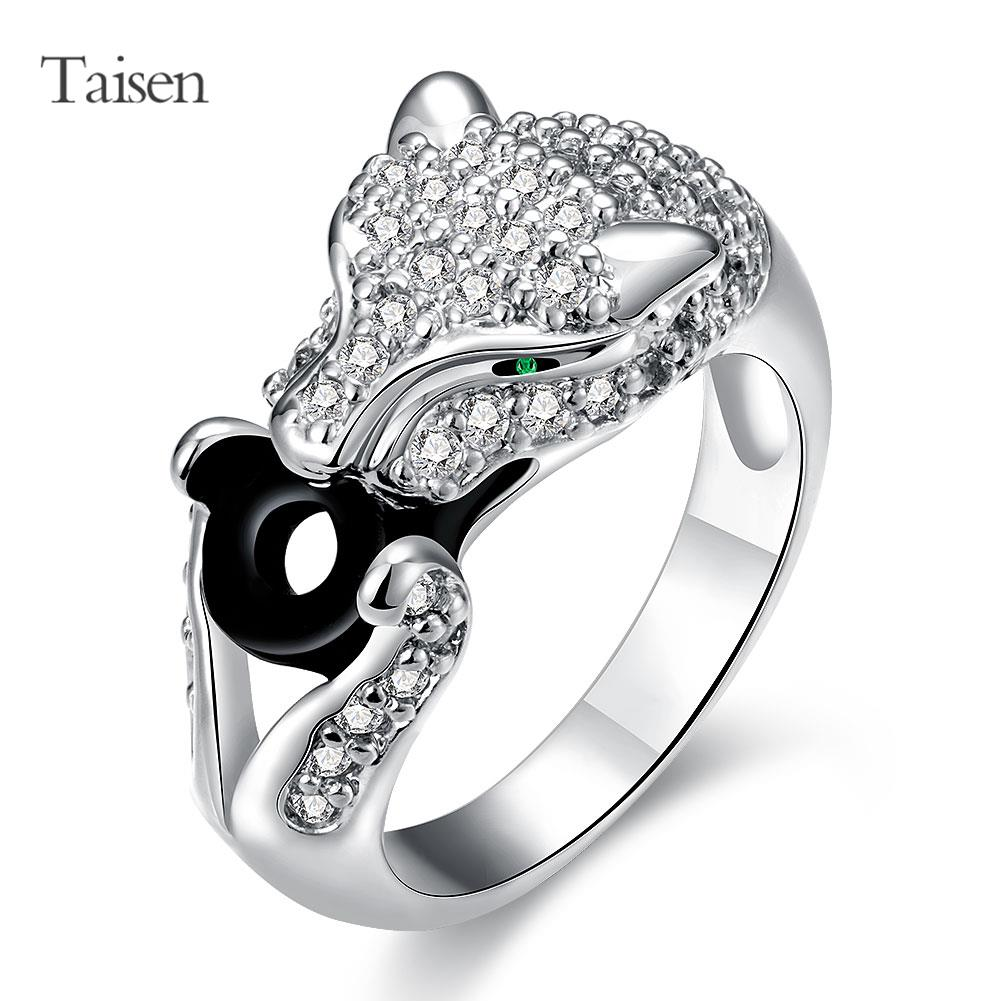 HOT new fashion Leopard shape animal ring for women fine quality created Diamond silver ring female jewelry usa size(China (Mainland))
